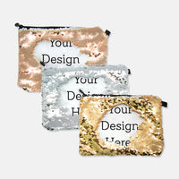 SEQUIN REVERSIBLE COSMETIC BAG-PM