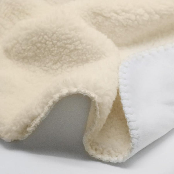 "Sherpa Blanket - 30"" x 40"" (Cream)-PM"