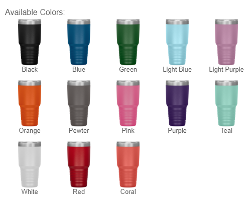 Laser Etched - 30 Ounce Vacuum Tumbler-TL