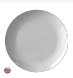 "Copy of 10"" dinner plate (SET OF 6)-TL"