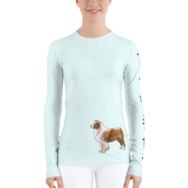 Women's Rash Guard Australian Shepherd