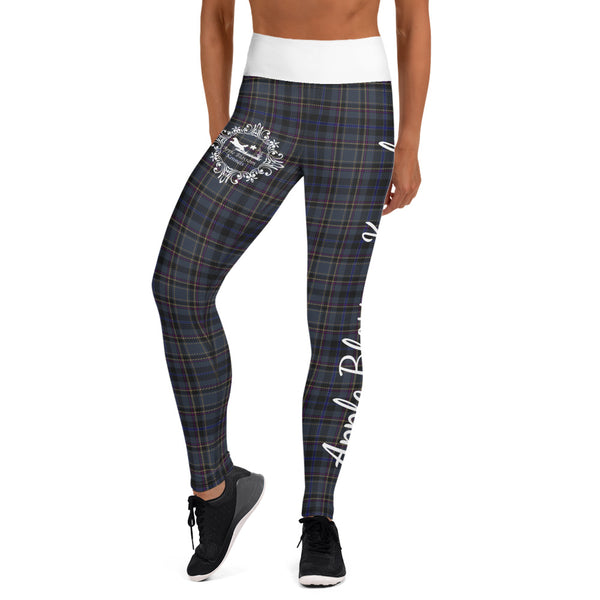ABK Logo Yoga Leggings in Conway Plaid