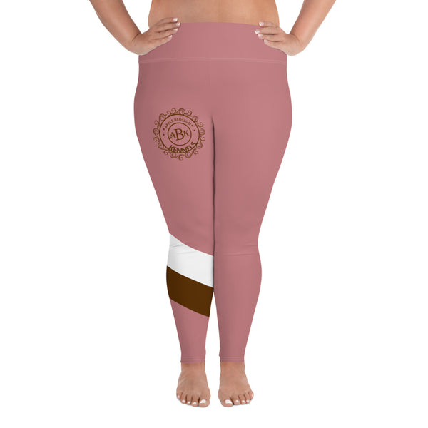 ABK Logo All-Over Print Plus Size Leggings