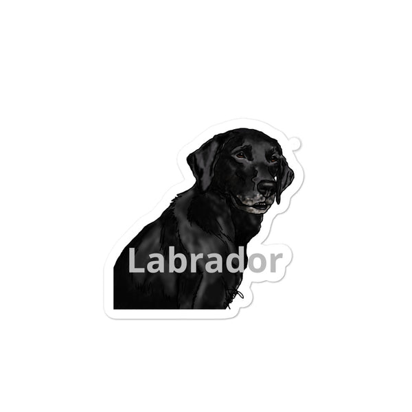 Labrador Bubble-free stickers
