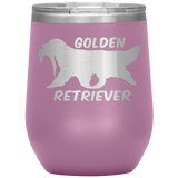 Golden Retriever 12 oz Wine Tumbler