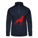 Red Sparkle Boxer Hanes Quarter Zip Pullover - navy