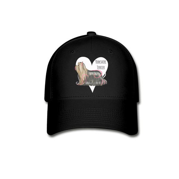 Yorkshire Terrier Baseball Cap - black