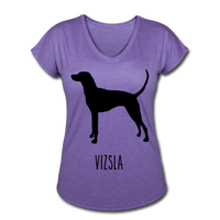Vizsla Women's Tri-Blend V-Neck T-Shirt - purple heather