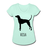 Vizsla Women's Tri-Blend V-Neck T-Shirt - mint
