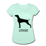 Weimeraner Women's Tri-Blend V-Neck T-Shirt - mint