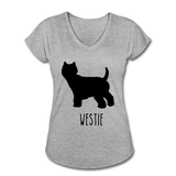 Westie Women's Tri-Blend V-Neck T-Shirt - heather gray