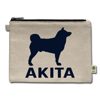 Sparkle Akita Carry All Pouch - natural