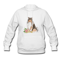Rough Collie Women's Hoodie - white