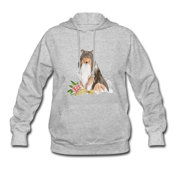 Rough Collie Women's Hoodie - heather gray