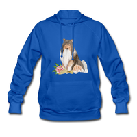 Rough Collie Women's Hoodie - royal blue