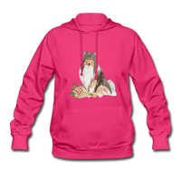 Rough Collie Women's Hoodie - fuchsia