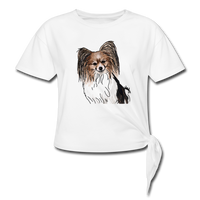 Custom Women's Knotted T-Shirt - white