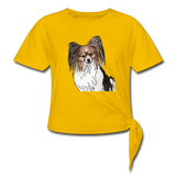 Custom Women's Knotted T-Shirt - sun yellow