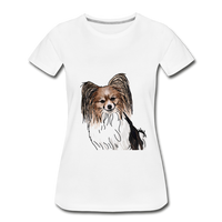 Custom Women's Premium Organic T-Shirt - white
