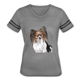 Custom Women's Vintage Sport T-Shirt - heather gray/charcoal