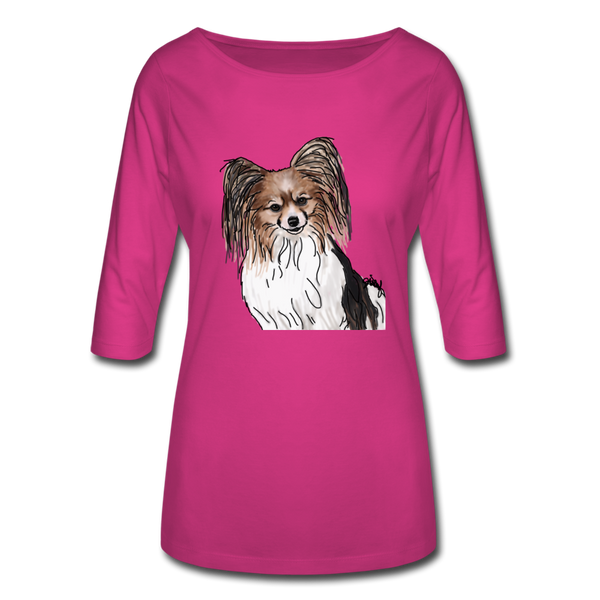 Custom Women's 3/4 Sleeve Shirt - fuchsia