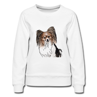 Custom Women's Premium Sweatshirt - white