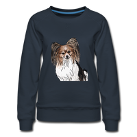 Custom Women's Premium Sweatshirt - navy
