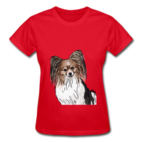 Custom Gildan Ultra Cotton Ladies T-Shirt - red
