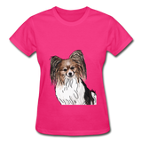 Custom Gildan Ultra Cotton Ladies T-Shirt - fuchsia