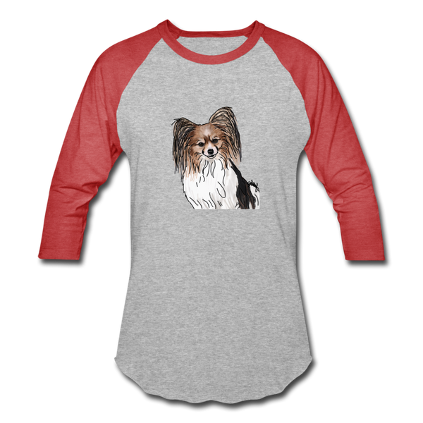 Custom Baseball T-Shirt - heather gray/red