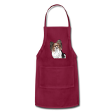 Custom Adjustable Apron - burgundy
