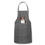Custom Adjustable Apron - charcoal