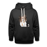 Custom Unisex Shawl Collar Hoodie - black