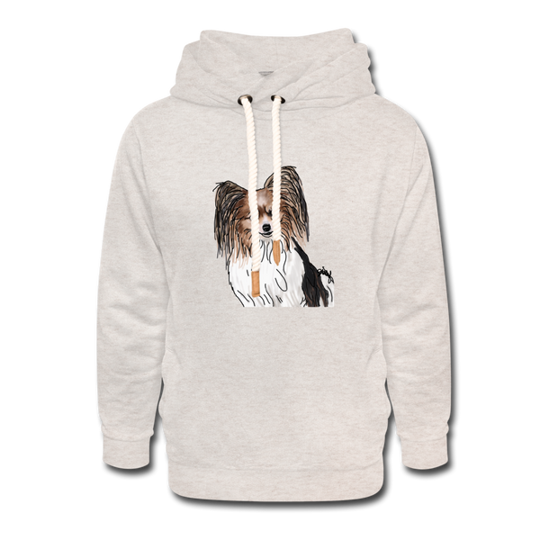 Custom Unisex Shawl Collar Hoodie - heather oatmeal