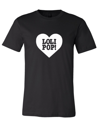 I LOVE LOLIPOP RECORDS - BLACK/WHITE (T-SHIRT)