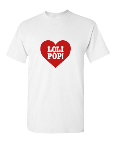 I LOVE LOLIPOP RECORDS - WHITE/RED (T-SHIRT)