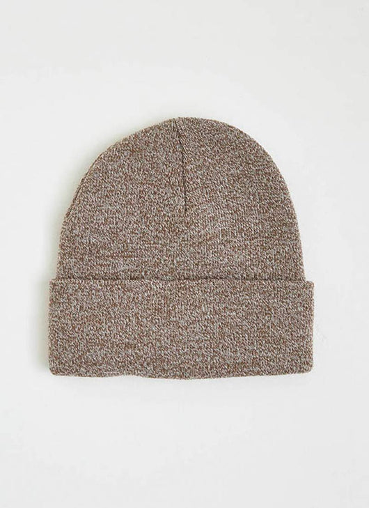 785cd20df97 Cabin Woven Patch Beanie Hat - Taupe Marl