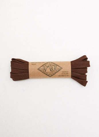 LACES 9MM FLAT - CHOCOLATE