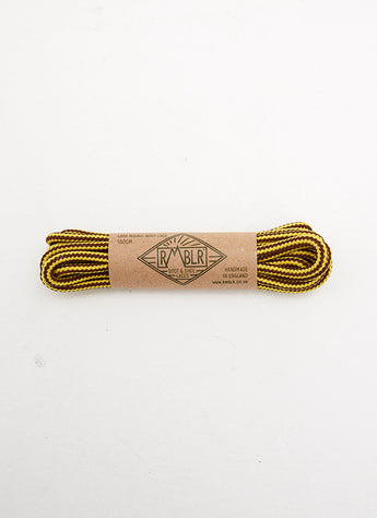 LACES 4MM ROUND - MUSTARD/BROWN