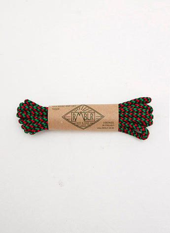 LACES 4MM ROUND - RED/BLACK/GREEN