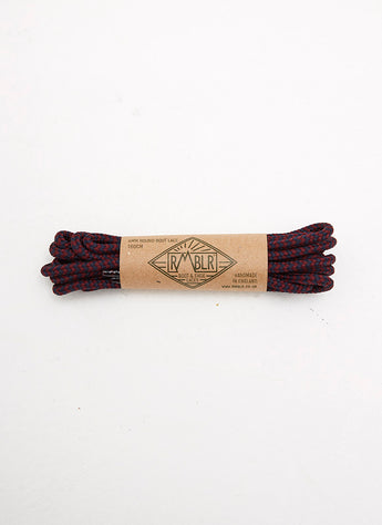LACES 4MM ROUND - NAVY/BURGANDY