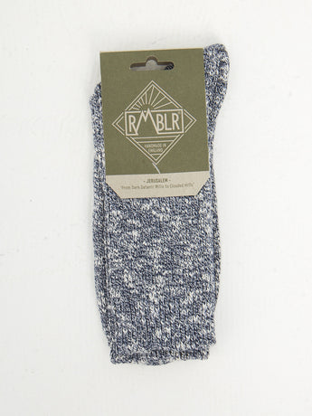 JERUSALEM SOCK - NAVY RAGG