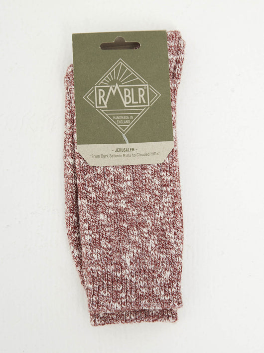 JERUSALEM SOCK - RED RAGG