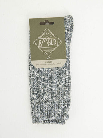 JERUSALEM SOCK - GREEN RAGG