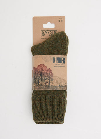 KINDER SOCK - GREEN SHEEP