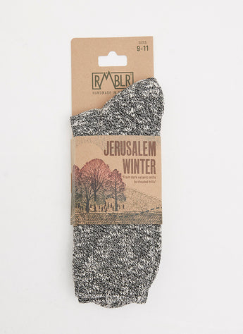 WINTER JERUSALEM SOCK - NERO RAGG