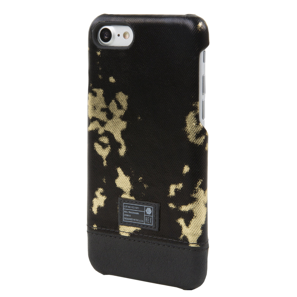 on sale c5bac 5d587 Black/Gold Leather Focus Case for iPhone 7/8