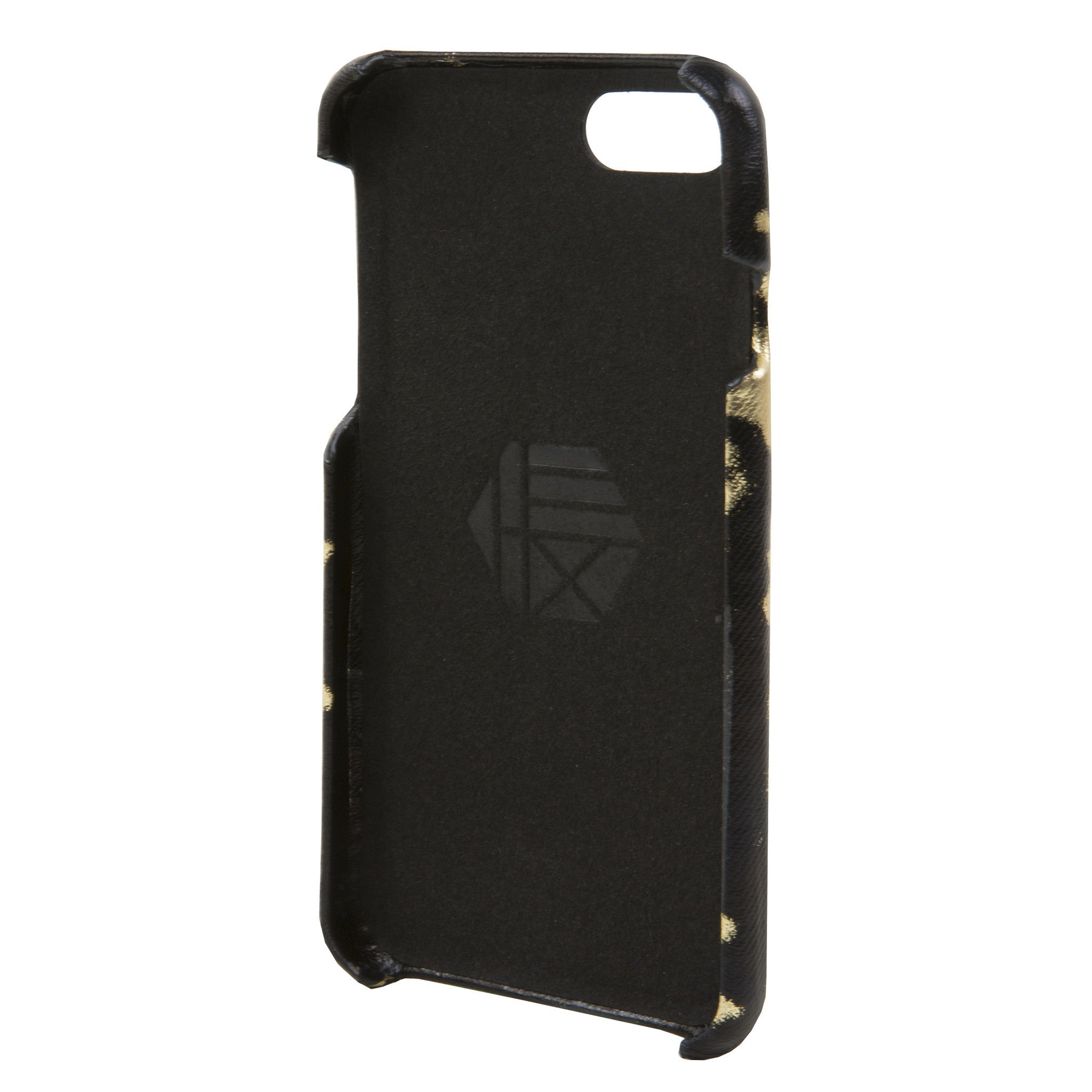 on sale 60ec3 f3447 Black/Gold Leather Focus Case for iPhone 7/8