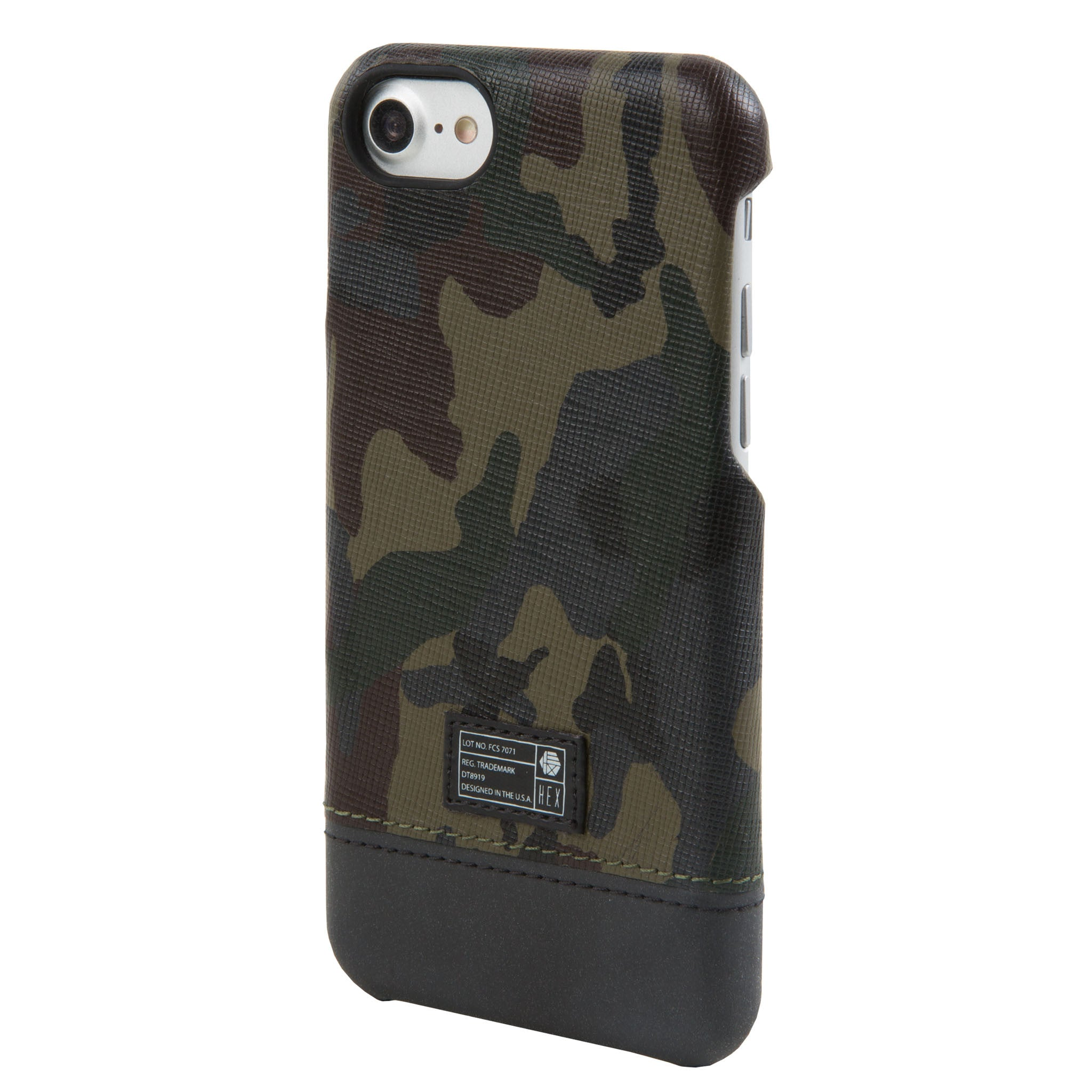half off 8f4a6 e3b27 Camo Leather Reflective Focus Case for iPhone 7/8