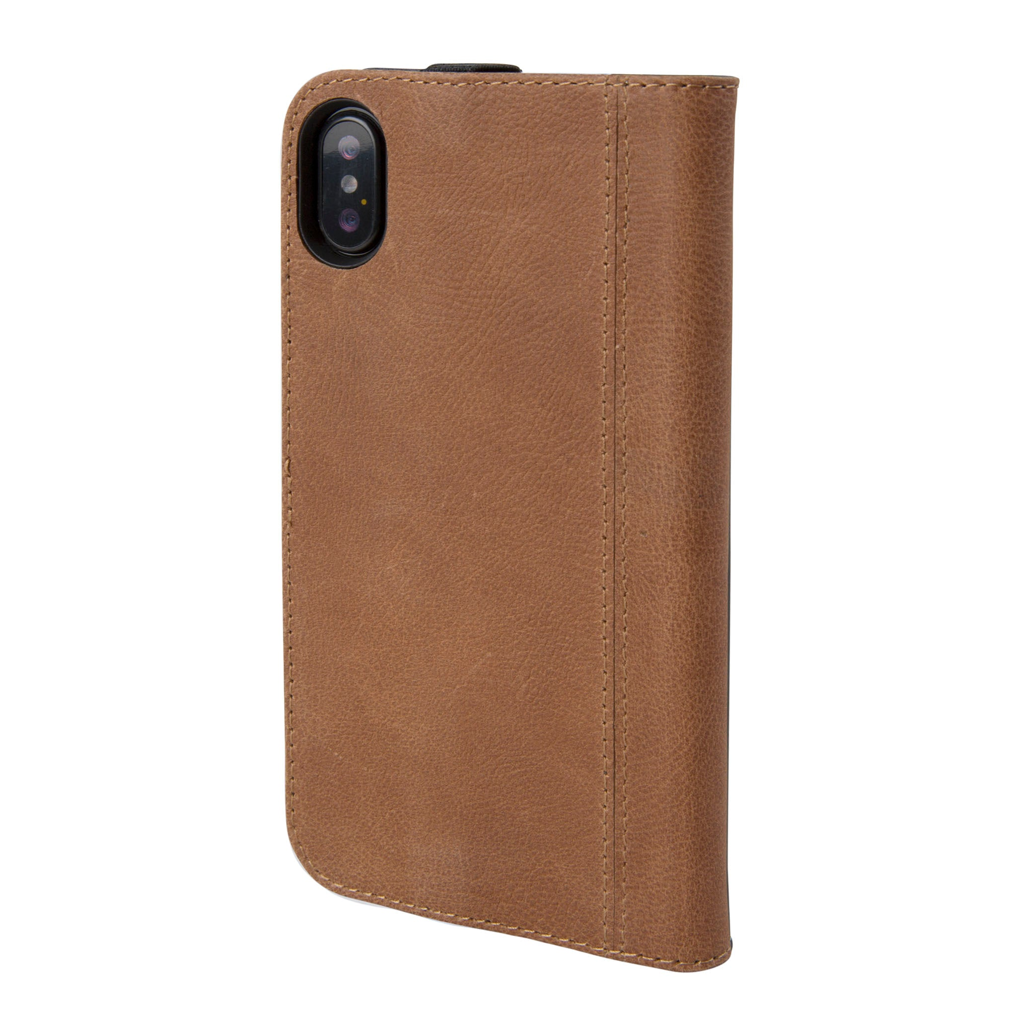 low priced e39bd c470f Brown Leather Icon Wallet for iPhone X